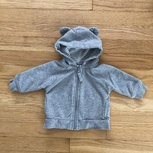 Hanna Andersson Gray Hoodie Size 60 (3-6 Months)